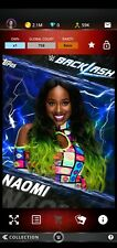 Topps WWE SLAM Digital 2017 Backlash Blue Base Naomi 758CC