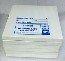 """Lot (6) Scotch 7"""" Reel 84-9801-1325-6 Magnetic Tape Accessory"""