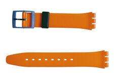 Original Swatch Gent 17mm Armband Orange'n Petrol AGB268 Neuware