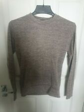 Ladies Misspap Jumper Knit Wear Size XS Washed Grey Pink - Patterned