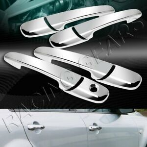 MIRROR CHROME DOOR HANDLE COVER CAPS TRIM 8-PCS FIT 05-14 FORD MUSTANG V6 V8