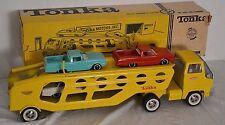 VINTAGE PRESSED STEEL TONKA No. 840 CAR CARRIER CAR HAULER TRUCK W/ CARS & BOX