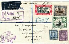 NEW ZEALAND SOUTH AFRICA KUT GB WW2 MIXED FRANKING Cover Military Reg 1945 LS100