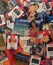Lotto 100 ricariche telefoniche (TIM,VODAFONE,WIND,OMNITEL) DIFFERENTI usate