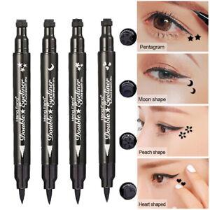 2Double Head Waterproof Liquid Eyeliner Tattoo Stamp Liner Pencil Makeup Gift💕