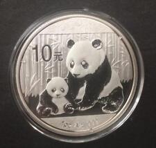 2012 China Silver Panda coin 1 oz .999 Fine 10 Yuan Chinese in Capsule