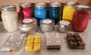 Mahogany Teakwood Wax Melts and Candles, Bulk Orders  100% Soy Wax Free Shipping