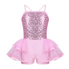 Girl Sequin Ballet Tutu Dress Gym Camisole Leotard Skirt Dancewear Fairy Costume