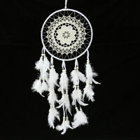 Handmade Dream Catcher White Goose Feather Home Wall Hang Decor Ornament Gift !