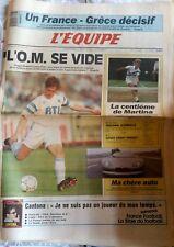 L'Equipe Journal 26/6/1991; France-Grèce/ L'OM se vide/ Martina Navratilova