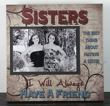 RUSTIC HANDMADE WOOD SISTER FRIEND 4X6 PICTURE FRAME PHOTO SIGN HOME DECOR 1011