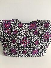 NWT Vera Bradley Pleated Tote Shoulder Handbag In Scroll Medallion Pattern