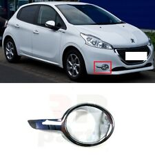 FOR PEUGEOT 208 12-18 NEW FRONT BUMPER FOG LIGHT SURROUND FRAME CHROME RIGHT O/S
