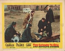 "JACK PALANCE - Original Vintage 11"" x 14"" Lobby Card TEN SECONDS TO HELL C#69"