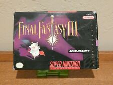 Final Fantasy III 3 iii FF - Super Nintendo SNES RPG Map CIB Complete CIB*RARE**