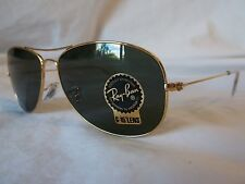 RAY BAN COCKPIT SUNGLASSES RB3362 001 ARISTA GOLD G-15 59-14-135 NEW & AUTHENTIC