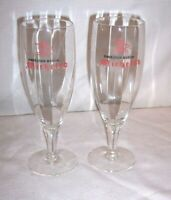 "2 ANHEUSER BUSCH 7 1/2  "" TALL MICHELOB BREWING PILSNER GLASSES BEER BAR PUB"