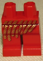 LEGO NEW RED LEGS WITH GOLD ARMOR SEQUINS PATTERN CASTLE NINJAGO PANTS