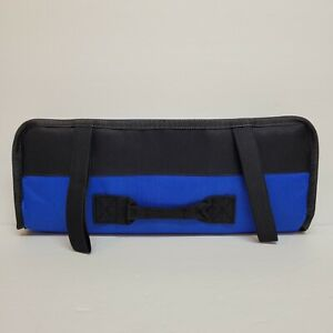 Socket, Screw Driver, Wrench Tool Roll 23 pockets 13.8 inch (Blue)