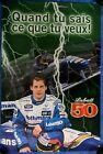 ORIGINAL MONTREAL F1 GRAND PRIX LABATT'S 50 ADVERTISING POSTER J. VILLENEUVE