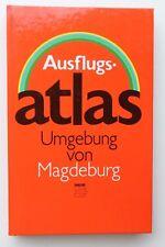 28267 tourist DDR Ausflugs-Atlas Umgebung von Magdeburg 1984 mit Landkarten Plan