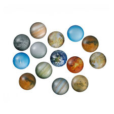 25mm (1 inch) - 10 pcs. Circle Planets Round Glass Dome Seals Tiles Cabochons