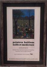 Peintres Haitiens Naifs et Modernes 1977 Exhibit Poster FRAMED Haitian Art