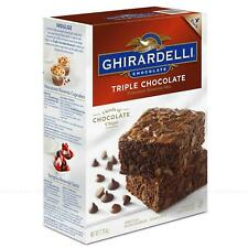 Ghirardelli Triple Chocolate Brownie Cake Premium Mix Pack of 4 Batches 2.26kg