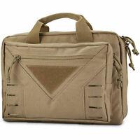 Pistol Gun Bag Case Soft Handgun Firearm Tactical Carry Storage Pouch Molle Tan