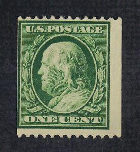 CKStamps: US Stamps Collection Scott#348 1c Franklin Mint H OG 21 1/2mm