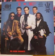 BIG AUDIO DYNAMITE E=MC2 EXTENDED REMIX MAXI 45T HOLLAND PRESS CBS 1985