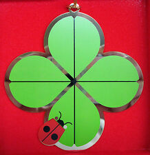 Charlie/ Charley Harper- Brass Christmas Ornament -  DOUBLE LUCKY - ladybug