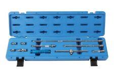 Socket Extension Bar Set 10pce 75mm - 460mm Sliding T-Bar Adaptors All in a Case