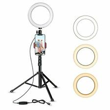 8W Selfie Ring Light w/Tripod Stand&Cell Phone Holder Set for Live Stream Makeup