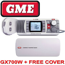 GME GX700 VHF MARINE RADIO WHITE Waterproof Communications FREE POSTAGE GX700W