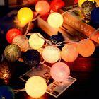 10/20/30 Cotton Ball LEDs String Fairy Lights Lanterns Wedding Bedroom Decor