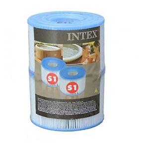 Intex S1 PureSpa Filter Cartridge - Pack of 2 Spa Hot Tub GENUINE INTEX PRODUCT