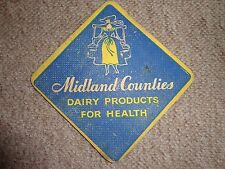 Beer drinks mats drip mats coaster MIDLAND COUNTIES DAIRY PRODUCTS FOR HEALTH