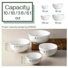 4 PCS Porcelain Serving Bowls Dishes Nesting Set for Salad Soup for Kitchen New