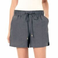 New $60 ELLEN TRACY Casual Linen Shorts w/Drawstring Waist Womens Sizes XL 2XL