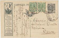 INTERO POSTALE 15 CENTESIMI MILL.20 COEN TESSUTI VIAGGIATA 1922