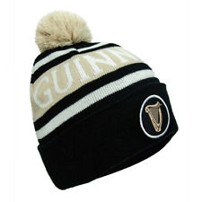 Black Colour Guinness Beanie Hat With White Guinness Trademark Logo