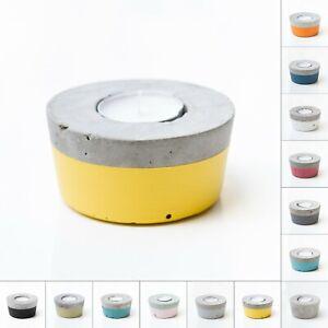 CONCRETE CEMENT TEA LIGHT TEALIGHT CANDLE HOLDER industrial retro scandi style