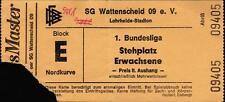 Ticket BL 90/91 SG Wattenscheid 09 - Fortuna Düsseldorf