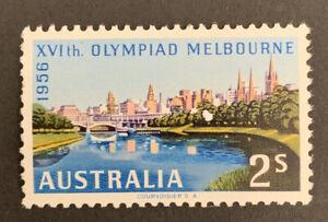 1956 PRE-DECIMAL Melbourne Olympic 2/ Multicolored Australian Stamp MUH No WMK