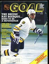 NHL Goal Magazine January 1985 Ray Bourque EX w/ML 012717jhe