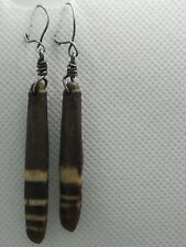 Vintage tribal ethnic Silver and sea urchin spine earrings