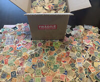 WW OFF PAPER STAMP BOX LOT 1,000's OF STAMPS 100+ WORLDWIDE COUNTRIES, NO U.S.