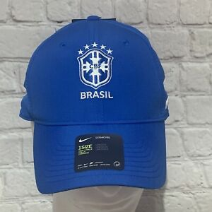 Nike CBF Brasil Legacy91 Adjustable One Size Football Cap Hat NWT Dri-Fit - NEW