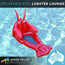 Airtime Inflatable Kids Lobster Mesh Bottom Lounge Pool Water Toy 105x57x71cm